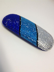 Crystal Small Eyewear Case - TD Blue