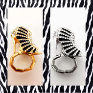 Striped Stiletto Ring