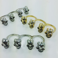 4 Headsmen Skull Ring