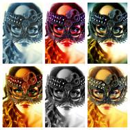 Crystal Snake Masquerade Mask