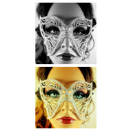 Crystal Butterfly Masquerade Mask