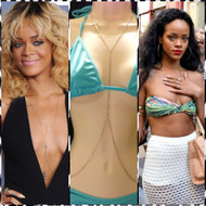 Rihanna Style Simple Cross Body Chain