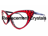 Replacement Crystal Kit for Crystal Cateye Sunglasses/Glasses