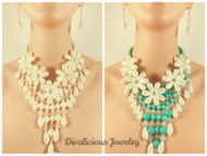 Pearl Cascade Necklace and Earring Set