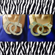 Oversized Crystal Handcuff Necklace