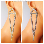 Stylish Crystal Duo-Triangle Earrings