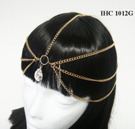 Dazzling Large Drop Pendant Head Chain