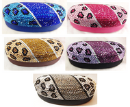 Crystal Leopard Large Eyewear Case (Multiple Colors!)