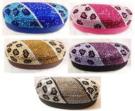 Crystal Leopard Large Eyewear Case (Multiple Colors!)
