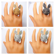 Ravishing Crystal Rabbit Ring
