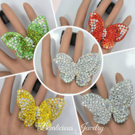 Celestial Crystal Butterfly Ring