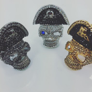 Unique One-Eyed Pirate Skull Ring