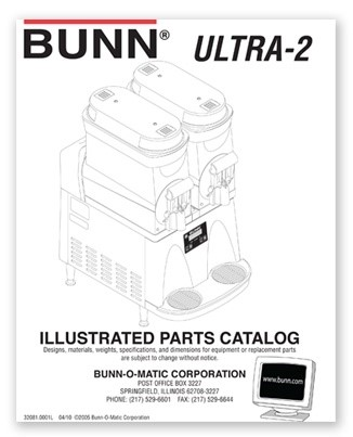 BUNN Ultra 2 Illustrated Parts Manual