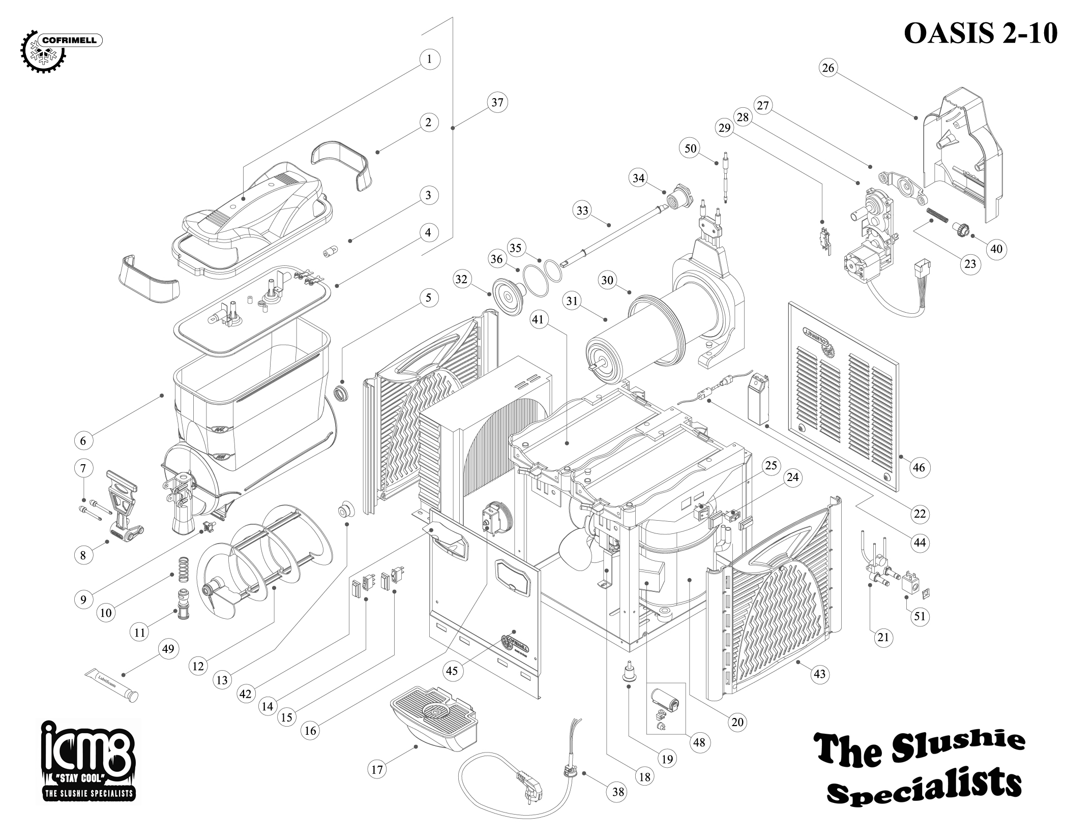 Cofrimell Oasis 2-10 Exploded View