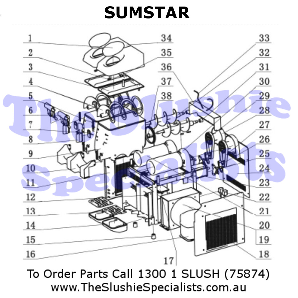 Sumstar Exploded Parts View