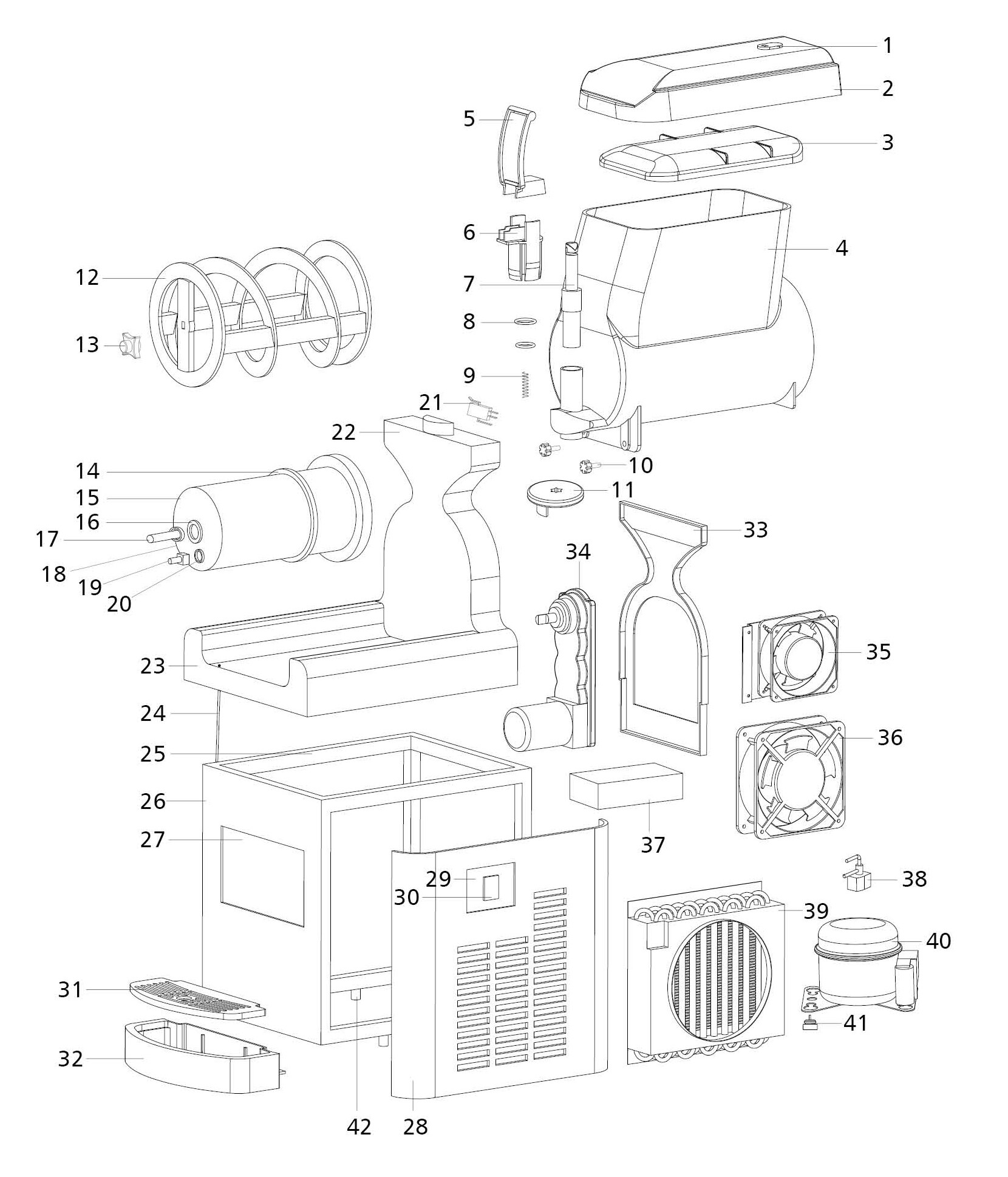 T311 Exploded View Parts Diagram