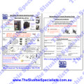 Laminated Instructions Sheet - Sencotel / GBG w Push Pull Handle