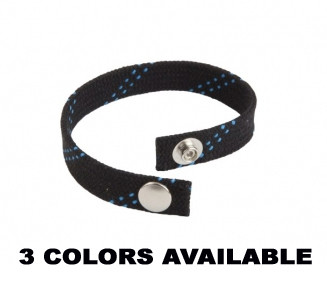 Every hockey player is proud to play the greatest game on Earth. Let everyone know you love the game by rocking the Stinky Locker Lace Bracelet. This lace bracelet is the same material as our actual waxed hockey laces, with a high quality snap to keep it secured for pre-game, in-game, and post-game.