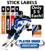 Customize your stick with you name, number, team logo and team color!