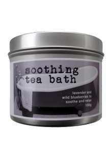 Soothing Tea Bath with lavender and blueberries