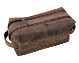 Taiga Leather Dopp Toiletry Kit Bag
