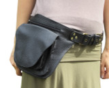 Hunter Pocket Belt in Black Leather