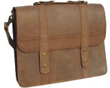 Leather Messenger Bag - Artisan Pro 3 - Brown