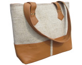 Hemp Bag Eco-friendly Tote Market Bag Clementine Leather
