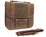 Hunter Leather Messenger Bag Nomad X - Brown
