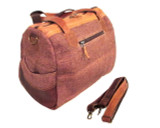 Organic Handbag Hemp Fabric Shoulder Bag Eco-friendly Brown