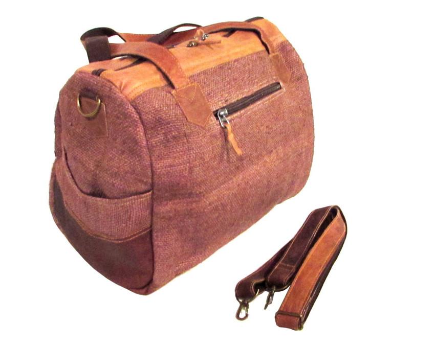9b68d219fd44 Organic Handbag Hemp Fabric Shoulder Bag Eco-friendly Brown