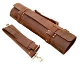 Ultimate Chef Bag Leather Knife Roll with 8 Holders