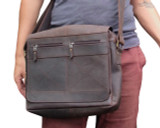 Leather Messenger Bag Crossbody Shoulder Satchel - Nomad 3