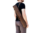26 Inch Leather Art Tube Document Roll Blueprint Bag - Summit 5