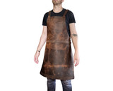 Leather Apron for Kitchen Workshop Studio - Protective Work Apron