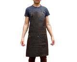 Leather Work Apron for Chefs Butchers Metalworkers Carpenters - Tirel Deluxe V1