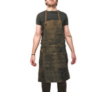 Leather Work Apron for Chefs Butchers Metalworkers Carpenters - Tirel Deluxe V3