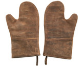 Leather Oven Mitts Pair of Oven Gloves Pot Holders - V2
