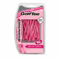 "Pride Evolution Breast Cancer Awareness Plastic Golf Tees (30 Pack), 3 1/4"""