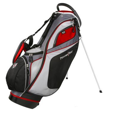 Powerbilt TPS Dunes Golf Stand Bag, Red/Black/White
