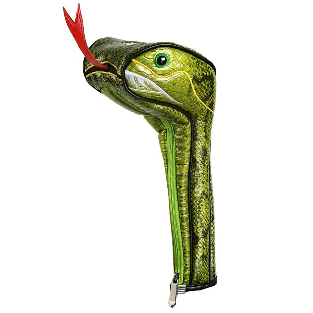 Snake Golf Driver Head Cover Headcover Green Viper
