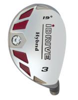 idrive hybrid golf head, burner style, right or left hand
