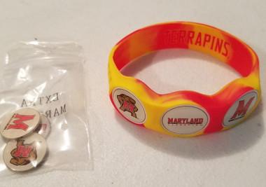 Maryland Terrapins Wristskins golf ball marker bracelet