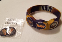 US NAVY wristskins golf ball marker bracelet