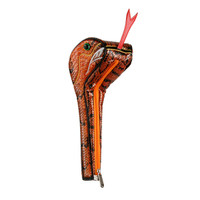 snake golf driver head cover, headcover, orange, viper