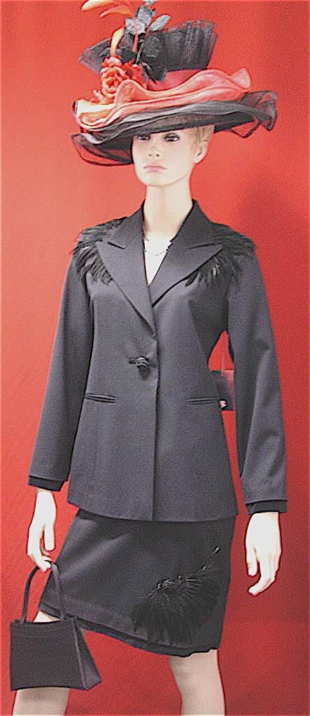 Black Feather Suit