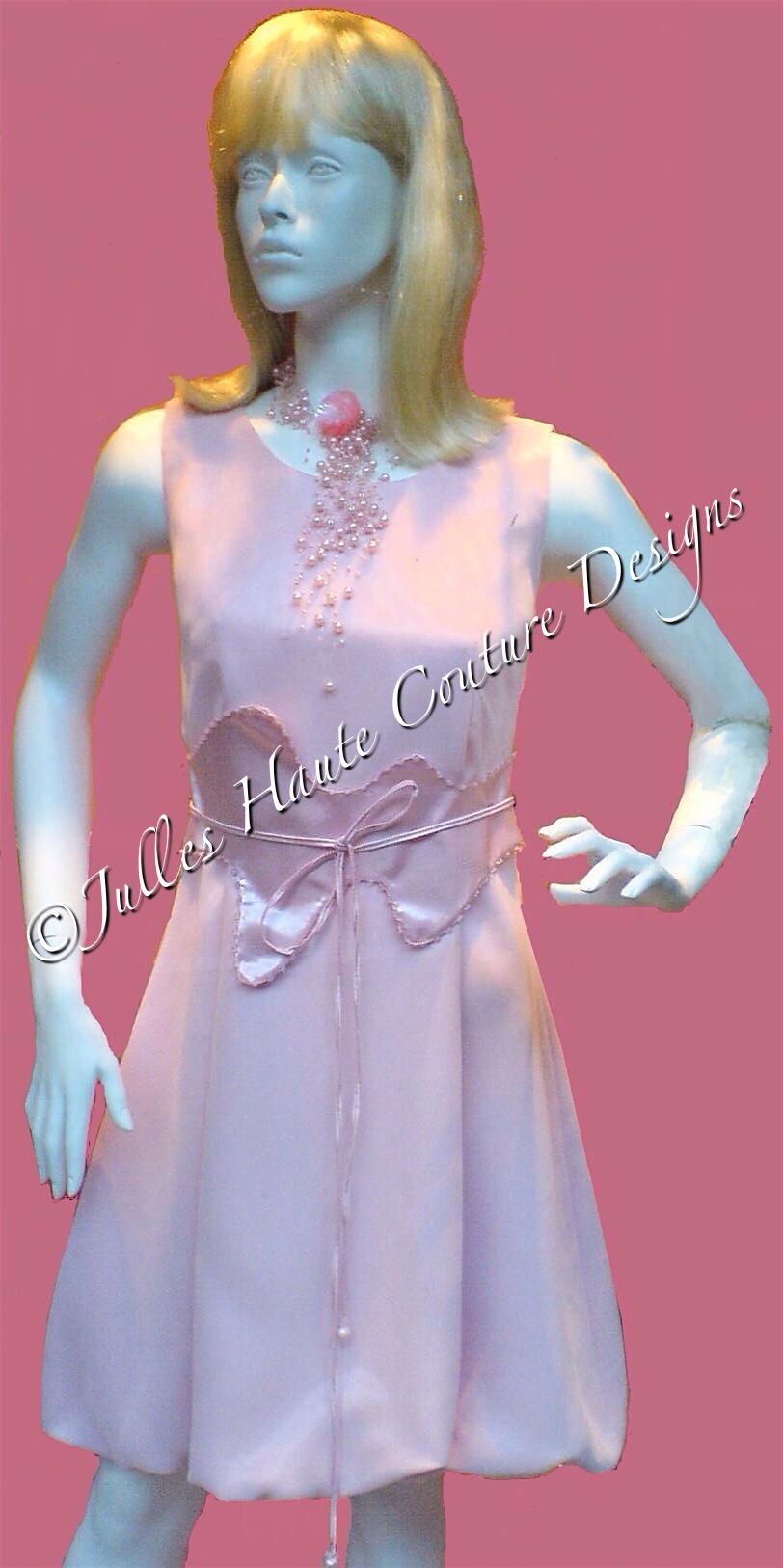 Peach Bubble Dress