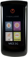 Maxwest Vice 3G Flip Phone New Unlocked (Black)