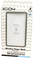 icon Wireless Power Bank (White)  7000mAh
