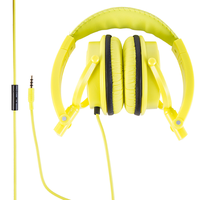 Polaroid PHP8360 Foldable Headphones w/built in microphone - Yellow